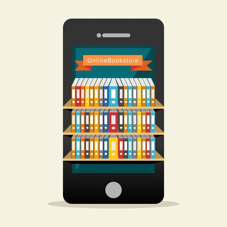 Bibliothèque en ligne ou d'un concept de bibliothèque numérique.