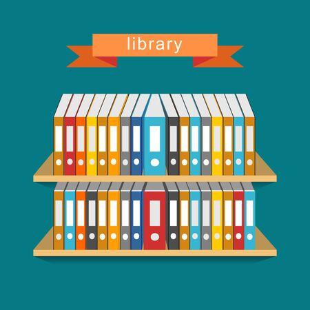 align: Library concept. Bookcase concept.