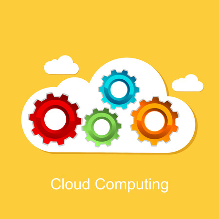 cloud computing concept: Cloud computing concept. Technology background.
