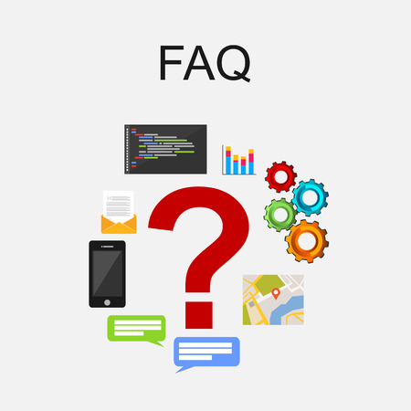 suggestions: Frequently Asked Questions FAQ concept illustration concept. Online support concept. Illustration