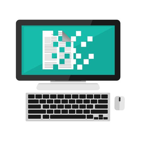 Data encryption concept illustration. Flat design. Stock Illustratie