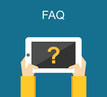 faq: Frequently Asked Questions FAQ concept illustration concept. Online support concept. Illustration