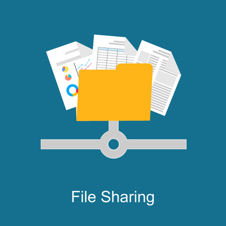 files: File sharing concept.