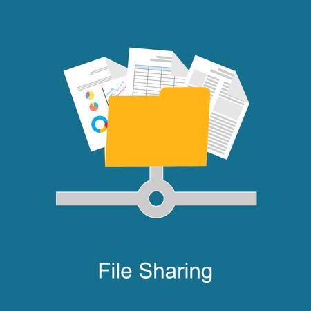 File-Sharing-Konzept. Standard-Bild - 44039969