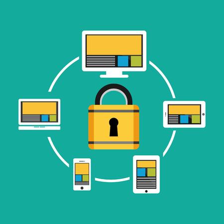 dir: Data privacy concept illustration.