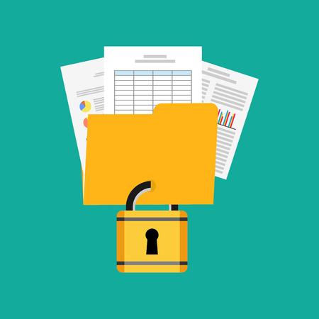 privacidad: Privacidad de los datos concepto ilustración.