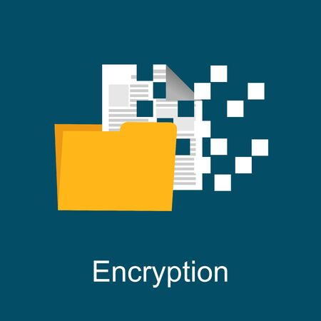 encryption: Encryption concept illustration. Flat design. Illustration
