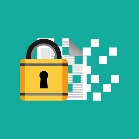 encryption: Data protection and encryption concept illustration.