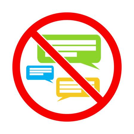 keep silent: Silenzio per favore. No Speaking. Fai silenzio. Segno vettore