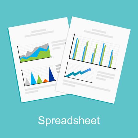 Spreadsheet concept illustration.