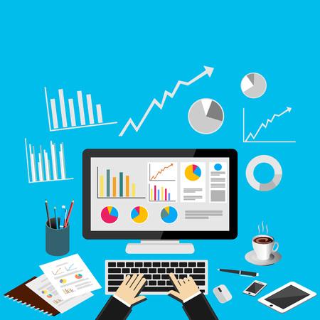 Business analytics concept illustration. Illustration