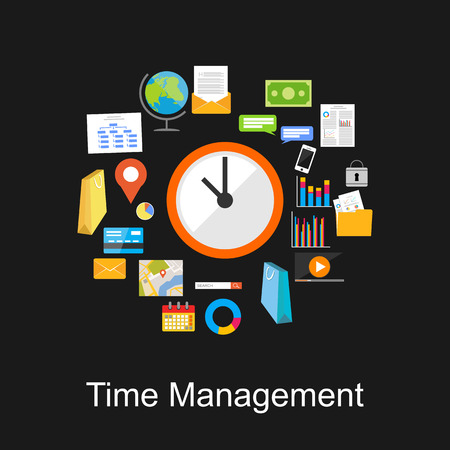 timemanagement: Time management concept illustratie.