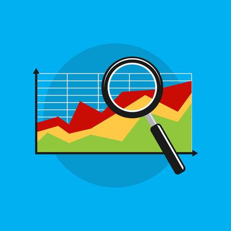 Business analytics symbol.