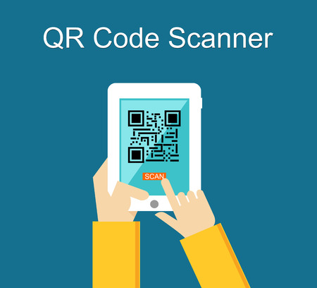 qrcode: Qr code scanner concept illustration.