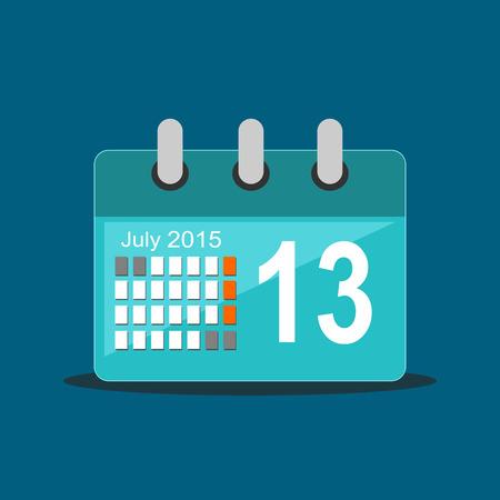 calendar icon: Calendar icon. Flat design. Illustration