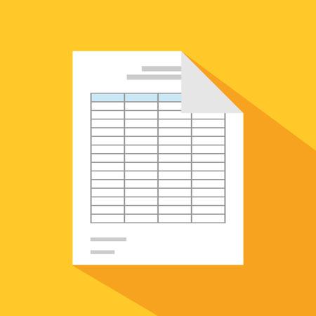 Documents icons. Report. Spreadsheet.