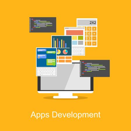 delegation: Apps Development concept illustration.