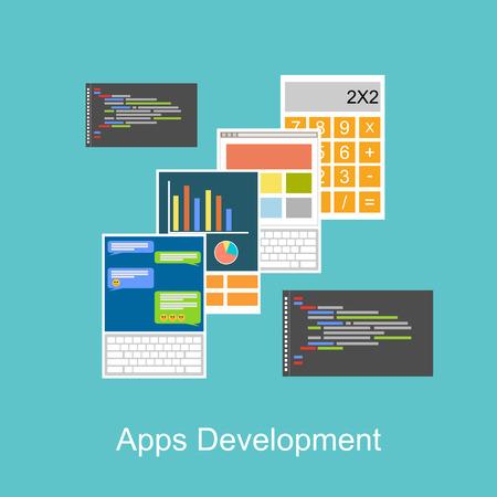 Apps development concept illustration.