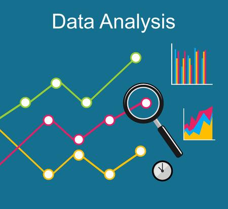 business analysis: Data analysis. Business growth concept illustration. Illustration