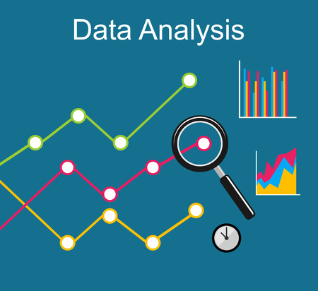 Data analysis. Business growth concept illustration. Illustration