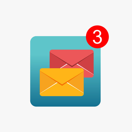 Message notifications icon concept. Inbox messages. Illustration