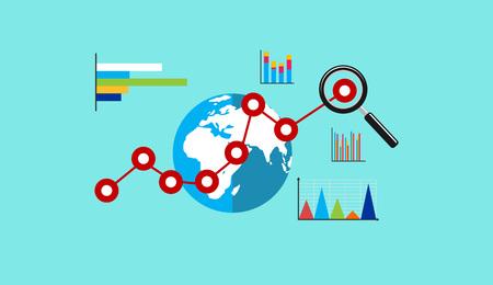 economia: Economia global. El crecimiento del negocio. analítica de negocios. conocimiento de los negocios.