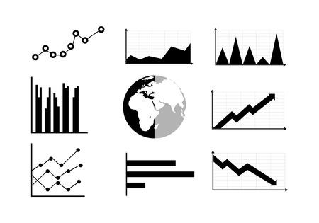 Graphs Infografik-Elemente.