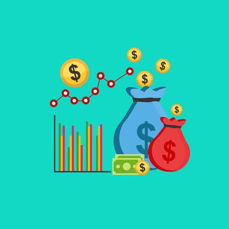 Business profit concept illustration. Ilustração