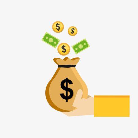 money: Economy and money. Saving money concept.