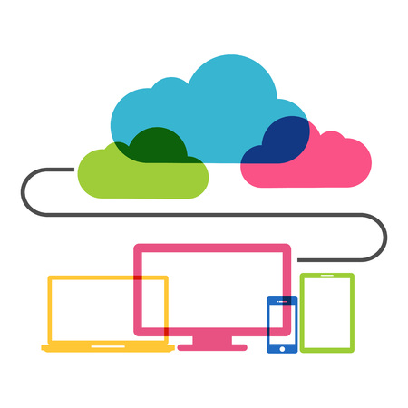 media network: Cloud computing technology concept.