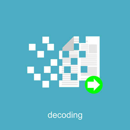 decoding: Decoding, Copying, or Recovery File. Illustration