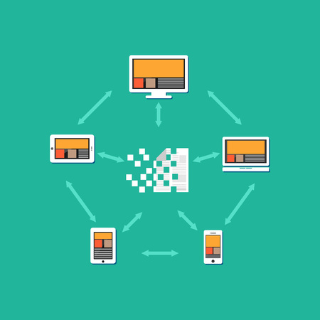 transferring: Files or documents transferring between each other. Document distribution. File sharing concept illustration.