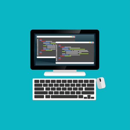 Programming or coding on computer, website development, web design.