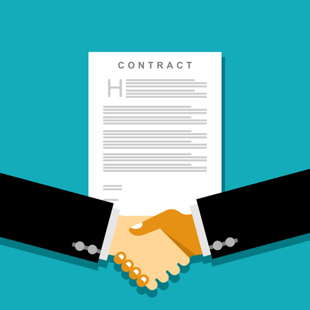 business agreement: Business handshake and business contract agreement concept. Business partnership. Business dealing.