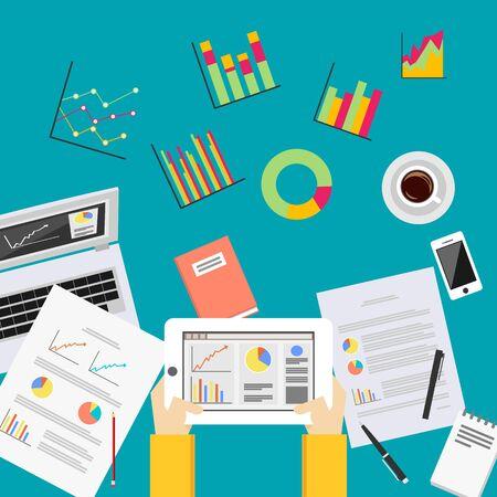 forecaster: Business data analytics. Business statistics analysis concept.