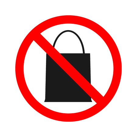 anything: Stock vector of no bag Prohibition for bringing packet bag. Dont bring anything.