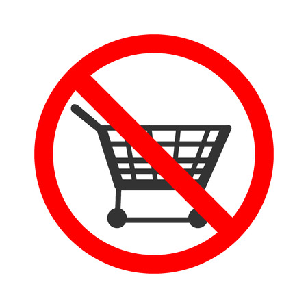 prohibition: Stock vector of no trolley. Prohibition for using trolley.