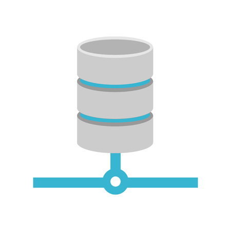 unstructured: Database relational icon. Database connection symbol. Illustration