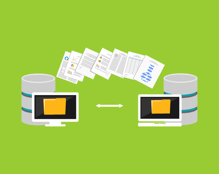 end user: Copying files process. Files transfer between devices. Import or export data from another database.