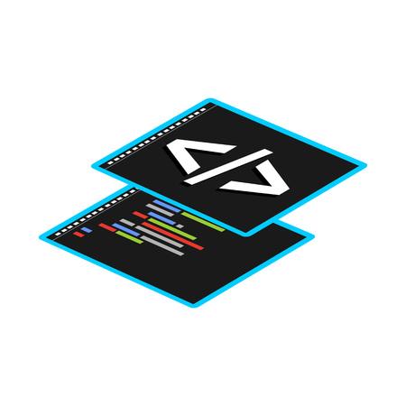 coding: Programming or coding symbol.
