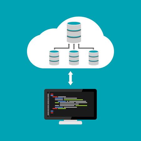relation: Database architecture programming. Database relation management. Cloud storage.