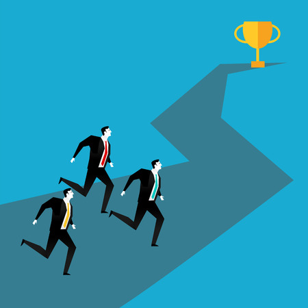 competitions: Business competition. Business Race concept. Business vector illustration