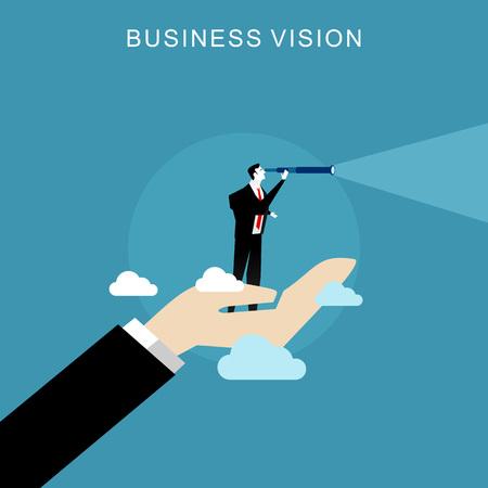 business concept: Business vision concept.