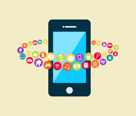 mobile technology: Smartphone with multimedia applications. Mobile applications technology.