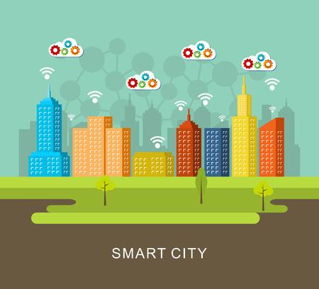 smart: Smart city. Illustration