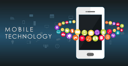 mobile technology: Mobile technology abstract background.
