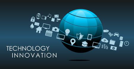 circuito integrado: Tecnología de la información o la innovación tecnológica resumen de antecedentes. Vectores