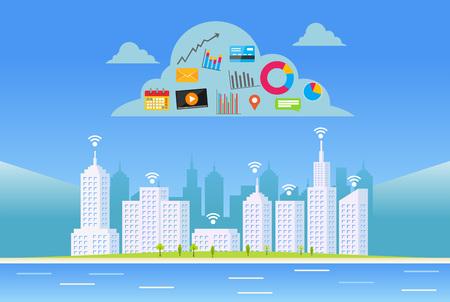 servizi cloud. Città intelligente.