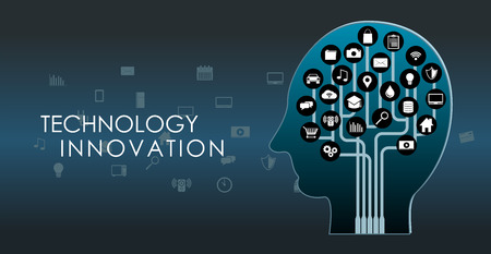 Human brain. Technology innovation. Artificial intelligence