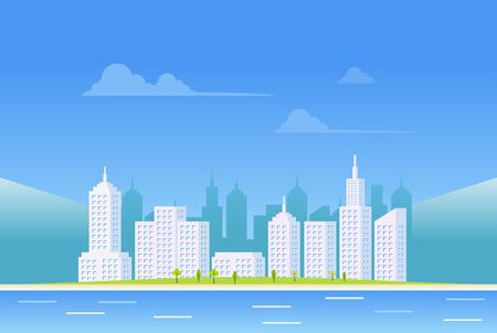 transparente: Claro fondo paisaje de la ciudad.